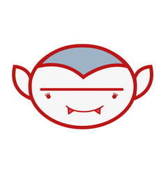 Man face vampiere with fangs vector