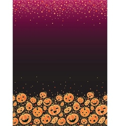 Halloween pumpkins vertical decor background vector