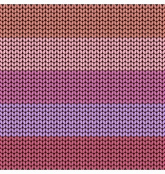 Colorful striped knitted background vector