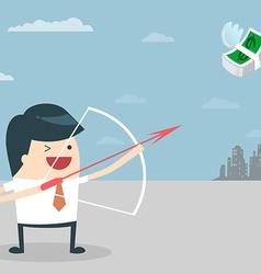 Businessman Target vector image