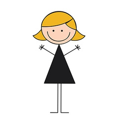 girl graphic vector image
