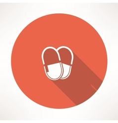 Medicine pills icon vector