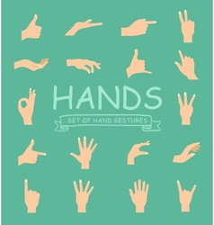 Hand collection on white background vector