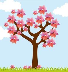 tree landscape vector image