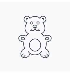 Teddy-bear icon baby toy sign vector