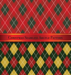 Christmas seamless argyle pattern design set 6 vector