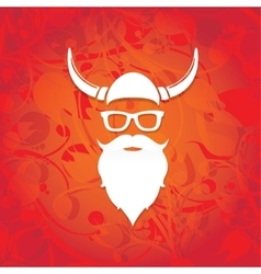 Christmas santa claus beard vector