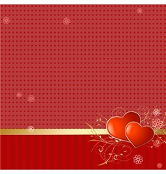 Love retro wallpaper vector