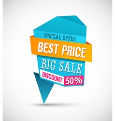 Big sale best price banner vector