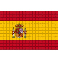 The mosaic flag of spain vector