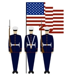 Honor guard in the united states vector