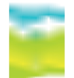 Abstract blue green yellow background vector