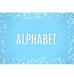 Abstract white alphabet ornament frame isolated on vector image