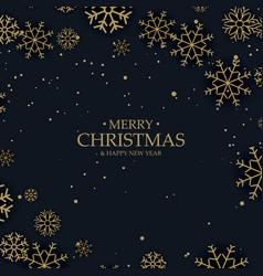amazing gold snowflakes on dark background vector image