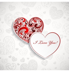 Background with two hearts vector image