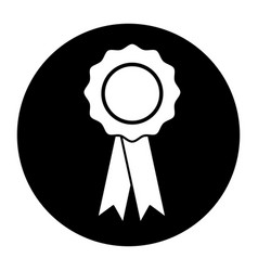 badge with ribbons winner medal vector image vector image
