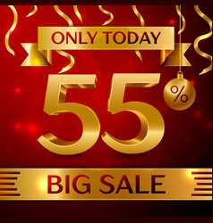 Big sale fifty five percent for discount vector