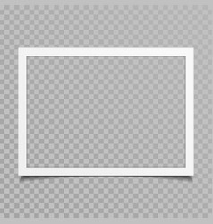 blank photo frame with shadow vector image