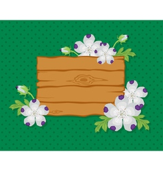 board whit background vector image vector image