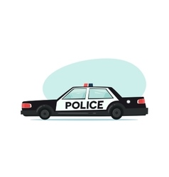 Cartoon police car icon Isolated objects on white vector image