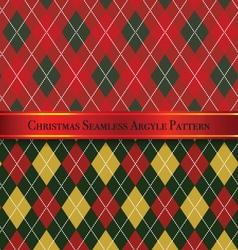 Christmas seamless argyle pattern design set 6 vector