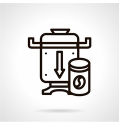 Coffee grinder simple line icon vector