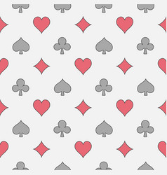 Colorful casino seamless pattern vector