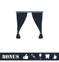 Curtain icon flat vector