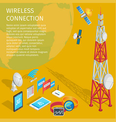 Equipment of wireless connection high tower beep vector