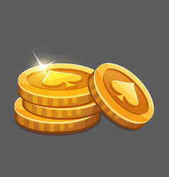 Few gold coins icon vector