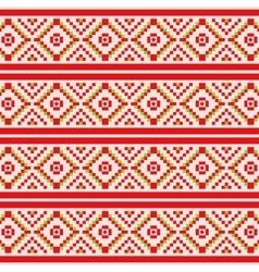 Geometric winter seamless pattern vector