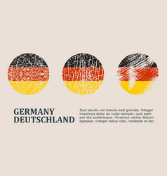Germany flag design concept vector