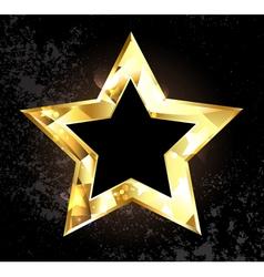 Gold Polygonal Star vector image vector image