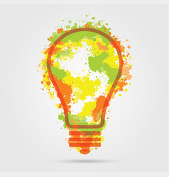 great new idea concept - bulb with hand draw vector image vector image