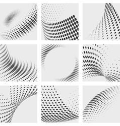 Halftone dots effects backgrounds set dot vector