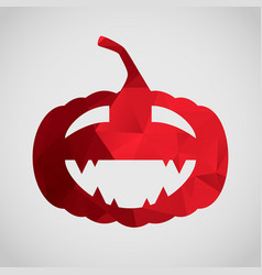 halloween card with funny pumpkin of triangle vector image vector image