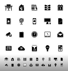 Home office icons on white background vector image vector image