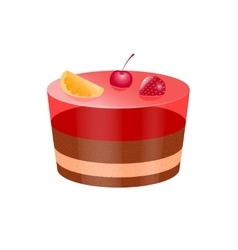 Icon cake with jelly vector