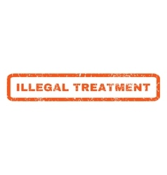 Illegal treatment rubber stamp vector