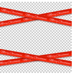 Merry christmas red banners isolated on vector