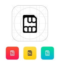 Nano SIM icon vector image