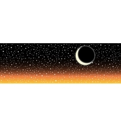Night sky with stars and moon image vector image