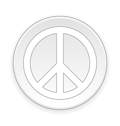 Peace symbol button vector image