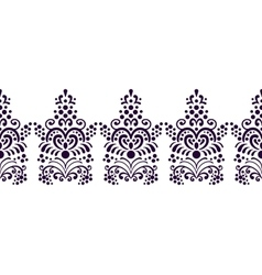 Seamless decorative floral border for frames vector image