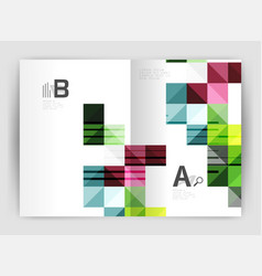 square minimalistic abstract background vector image