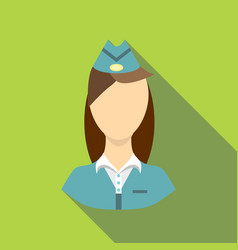 Stewardess icon flat style vector