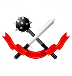 sword and mace illustration vector image
