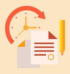 Time office work vector