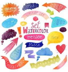 Watercolor bubble vector