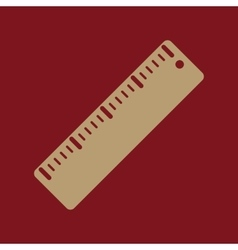 The ruler icon ruler symbol flat vector
